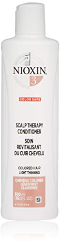 Nioxin System 3 Scalp Therapy Conditioner for Color Treated Hair with Light Thinning, 10.1 oz
