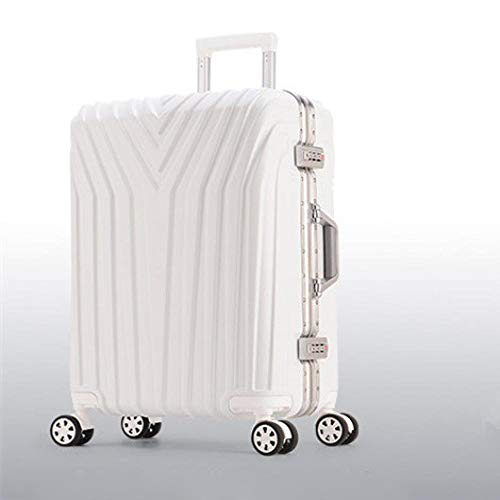 SFBBBO luggage suitcase Rolling Suitcase with Cup holder,Travel Luggage Bag,Universal wheel trip Trolley Case 29' White