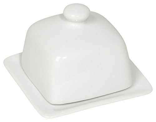 Now Designs Square Butter Dish, White