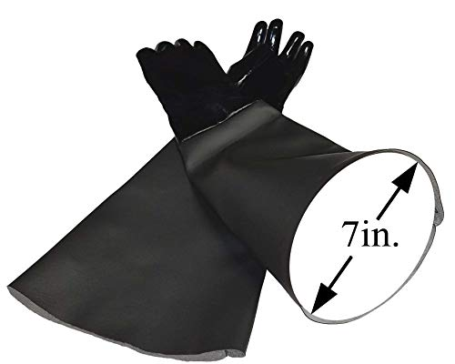 TUFF-Blast Neoprene Gloves for Sandblasting Sandblaster Sand Blast Cabinet - 7