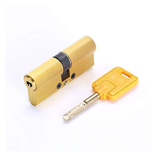 NGHSDO Bombin Cerradura Lock Cylinder Standard Universal Cobre Seguridad de la Puerta Cilindro Cilindro Cilindro 5 (Color : 75mm(37.5 37.5) 7keys)