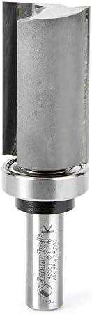 "popular Amana lowest Tool - 45551 online sale Carbide Tipped Flush Trim Plunge Template 1-1/8 Dia x 2"" x 1/2 Shan sale"