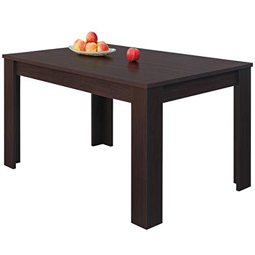 COMIFORT Mesa de Comedor- Mueble Extensible, de Estilo Moderno, Muy Resistente, con Medidas de 140/190 x 90 x 78 cm, Fabricado en Europa, Color Wengue 🔥