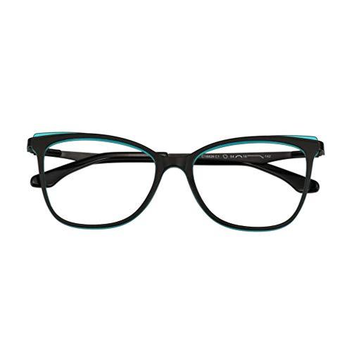YAO YU Gafas de Lectura Fotocromáticas, Tro 90 Mde Bisagra de Resorte Y Lentes de Resina de Calidad, Gafas de Sol Polarizadas Unisex/Azul Negro/1