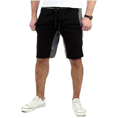 Met Love Verano y Deportes Europeos for Hombres y Fitness Pantalones Casuales de Cinco Puntos Pantalones Cortos de Estilo Europeo y Americano for Hombres