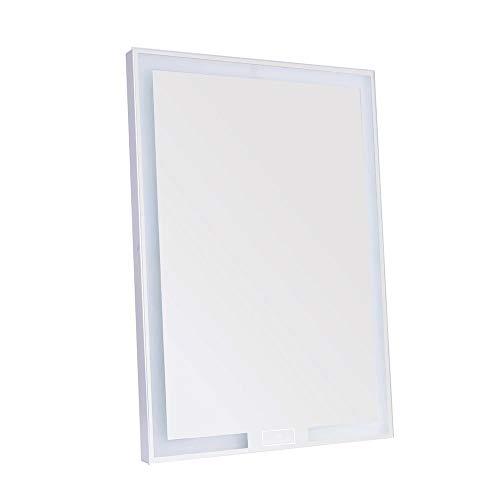 Impressions Royale Influence Kosmetikspiegel mit Touch-Sensor-Schalter, rechteckiger Kosmetikspiegel mit verstellbarem LED-Licht (weiß)