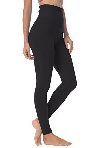 QUEENIEKE Yoga Hosen Damen-hohe Taillen Yoga Leggings mit Tasche Trainings Strumpfhosen für Laufen Fitness Farbe Schwarz Größe S(4/6)