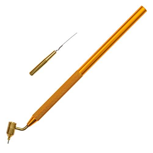 Pluma de pintura de línea fina, punta de lápiz de pintura inclinada, punta de lápiz de tinta de color dorado, ideal para reparación de rasguños y arañazos (0,5 mm)