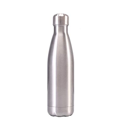 Langchao 309 Stainless Steel cola Bottle Vacuum Flask Double-Layer Sports Water Bottle Bowl Bowling Cup Bright-Steel Color 500ml
