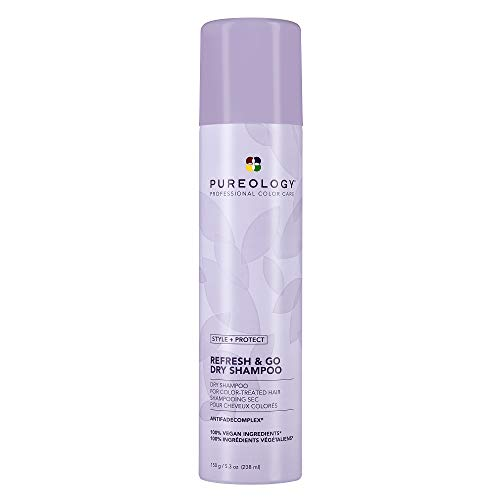 Pureology Style + Protect Refresh & Go Dry Shampoo | For Oily, Color-Treated Hair | Volumizing & Protective Dry Shampoo | Silicone-Free | Vegan | Updated Packaging | 5.3 Oz. |