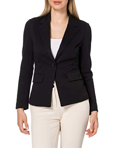 United Colors of Benetton Giacca 2by652414 Chaqueta, Negro 100, 44 para Mujer