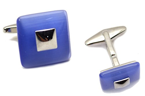 Kenneth Cole Reaction Mens Cat Eye Domed Square Cuff Links