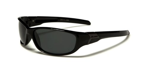 X-Loop ® Gafas deportivas para ciclistas gafas de sol (polarizadas)–Modelo Courcheval–UV400(uva y uvb)–Ultra Lightweight (color negro).