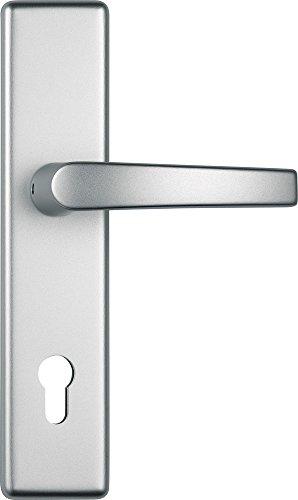 ABUS Tür-Schutzbeschlag HLT612 F1 aluminium mit beidseitigem Drücker 24792