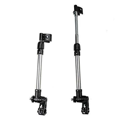 WYJW fietsparaplustandaard, roestvrijstalen roterende telescopische parapluhouder voor elektrische auto/kinderwagen/scooter