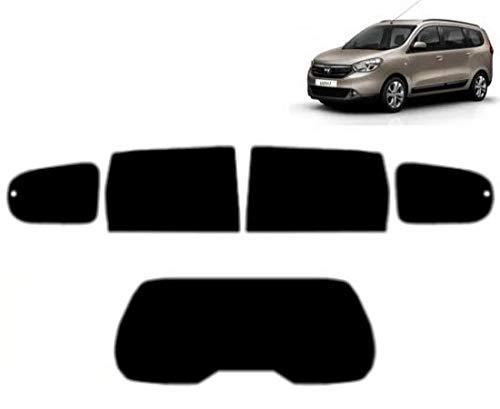 Láminas Solares para Tintar Las Lunas del Coche-Dacia Lodgy 5-Puertas 2012-. Ventanas Traseras & Luna Trasera (05% Super Negro)