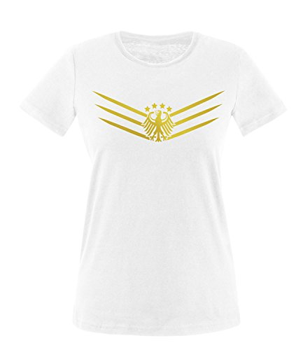 Luckja Deutschland Fanshirt EM 2016 Trikot M 02 Damen Rundhals T-Shirt