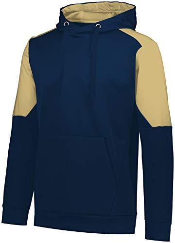 Augusta Sportswear Youth Blue CHIP Hoodie, Navy/Vegas Gold, M