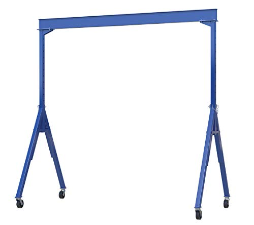 Vestil AHS-6-15-14 Steel Adjustable Height Gantry Crane, 6000 lbs Capacity, 15' Length x 10