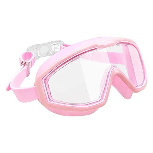 BOINN Gafas de NatacióN para NiiOs Sin Fugas Antivaho ProteccióN UV Vista Amplia Juventud NiiOs y NiiAs Gafas de NatacióN AcuáTica NiiOs Rosa