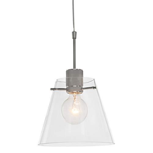 Steinhauer Glass Cloak Lámpara de techo Acero 22 cm de ancho Regulable