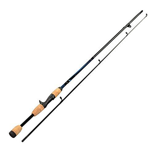 Lzcaure Ca?a De Pescar Fibra De Carbono 1.8m 2 Sección Spinning/Casting Ca?a De Pescar Manija De Madera Rod Principiantes Y Pescadores (Size:1.8m; Color:Casting Rod)