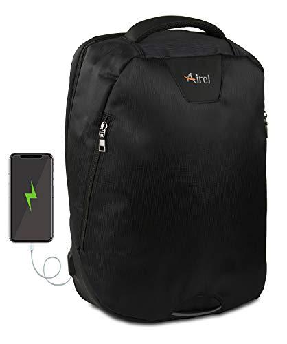 Airel Mochila portátil-Inteligente | Mochila Impermeable Portátil con Puerto USB | Daypack Mochila para Ordenador Portátil | Mochila con Cargador | Medidas: 41x35x15 cm. 15.6 Pulgadas