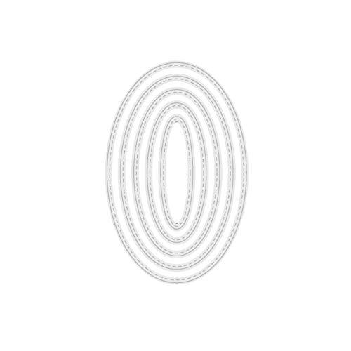 VVXXMO Dibujos de corte de metal de fondo ovalado,Plantilla de álbumes de recortes,Decoración de álbum de fotos,Sello de papel tarjeta de grabado en relieve