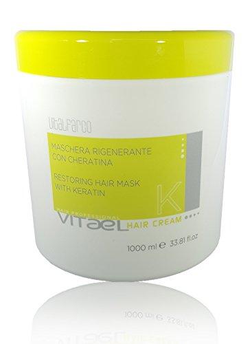 Vitael Mascarilla hidratante con queratina – Repara – Hidrata, desenreda – Perfecto para cabello seco o dañado 33.8 onzas líquidas