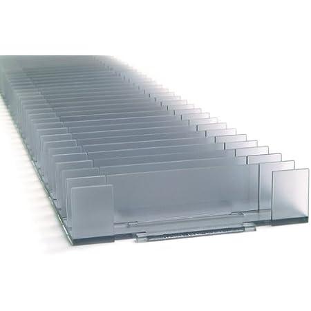 ABCD Storage Estanteria de Almacenamiento de DVD - Organizador Modular de DVD (Capacidad de 40)