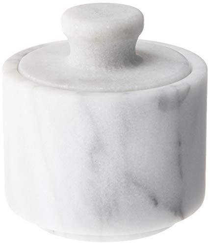 Fox Run Marble Salt Cellar, White