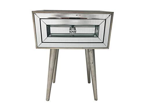Interieurs In Vogue Holywood Venetiaanse gespiegelde nachtkastje 1 Draw Console Glazen kast nachtkastje Slaapkamer Opslag