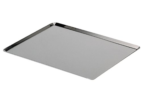 De Buyer - 3361.60 - Plaque bords pincés en inox 18% ép. 1 mm - L 60cm / l 40cm / h 1cm