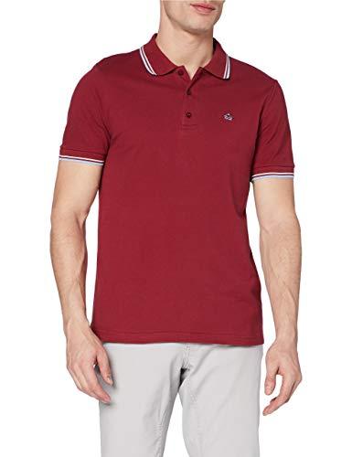 Merc of London Herren Card, Polo Shirt Poloshirt, Rot (Claret/Harmony), Large (Herstellergröße: L)