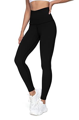 QUEENIEKE Women Yoga Leggings High Waist Running Pants Workout Tights Size XXL Color Black