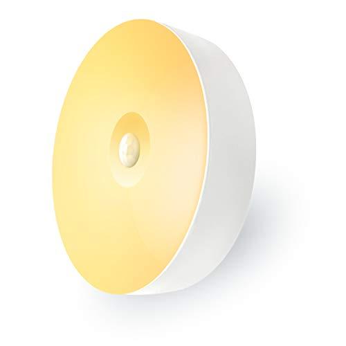 Mr.Twinklelight® Nachtlicht mit Bewegungsmelder, USB Aufladbare LED Nachtlicht mit anhaftenden Auflagen für Schlafzimmer,Treppe,Garage,Garderobe,Küche,Schließfächer,Halle etc (Warmweiß)