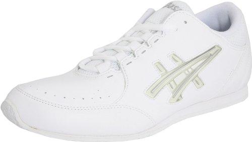 ASICS Women's Cheer LP Cheer Shoe,White/Interchange/Silver,5.5 M US