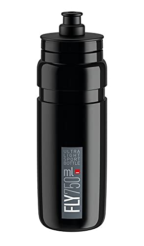 Elite Botella de agua unisex, color negro, 750 ml