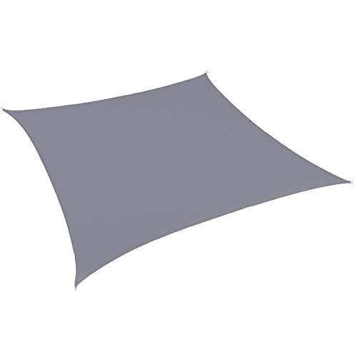 Masn Impermeable Oxford Gris Cuadrado Rectángulo Sombra Vela Jardín Patio Pabellón Natación Sombrilla Camping al Aire Libre Patio Vela Refugio
