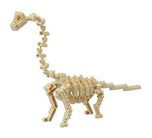 nanoblock NBC-114 - Brachiosaurus Skeleton Model / Dinosaurierskelett, Minibaustein 3D-Puzzle, Mini Collection Serie, 140 Teile, Schwierigkeitsstufe 4, sehr schwer