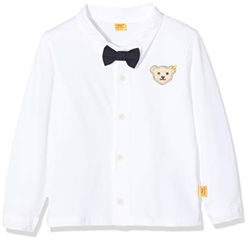 Steiff Baby Jungen Kragen Hemd mit Fliege Special Day 6642823 weiß (80)