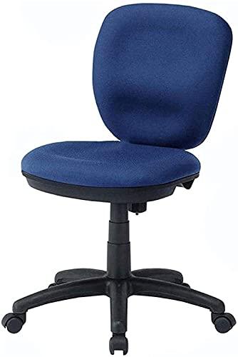 HJW Sillas de oficina Silla giratoria de malla,Silla de ordenador de respaldo pequeño Pies de nylon Empresa doméstica Sillón de silla de mostrador elevable,Azul