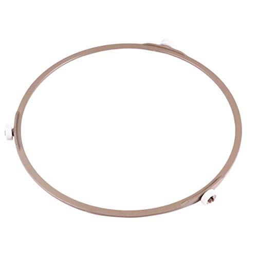 Hemoton - Juego de 2 anillos de bandeja giratoria para microondas, bandeja de horno de microondas, soporte de bandeja giratorio para microondas, anillo de soporte de rodillo giratorio para bandeja de