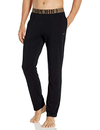 Emporio Armani Herren Big Eagle Trousers Pyjamahose, schwarz, X-Large