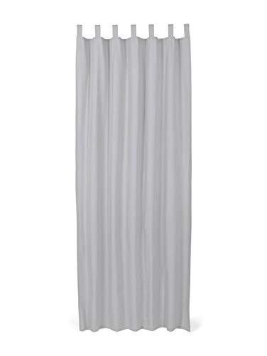 TOM TAILOR Unisex Home Schlaufenschal Vorhang Unifarben Silver Grey,140/255,I719,2500
