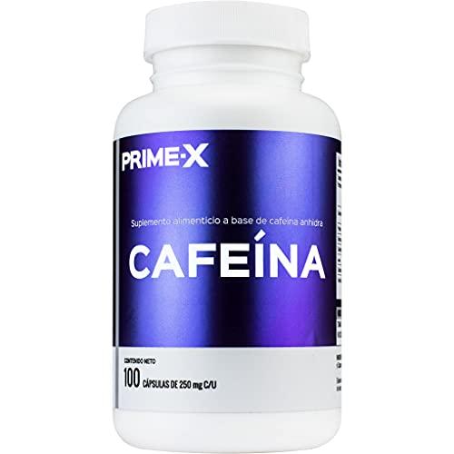 Cafeína 100 cápsulas de 250 mg que aportan 200 mg de Cafeína pura cada una, sin mezclas o rellenos. La cafeína es el estimulante mas popular del mundo porque proporciona efectos energizantes con cero calorías o azúcares agregados.