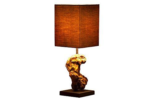 DuNord Design Tischlampe Treibholz Lampe Schwemmholz Lampe JAVA braun Naturholz Unikat