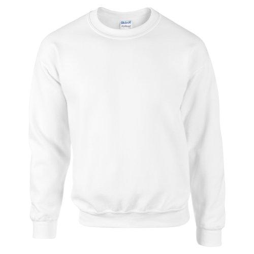 Gildan DryBlend Sweatshirt/Pullover mit Rundhalsausschnitt (M) (Weiß)