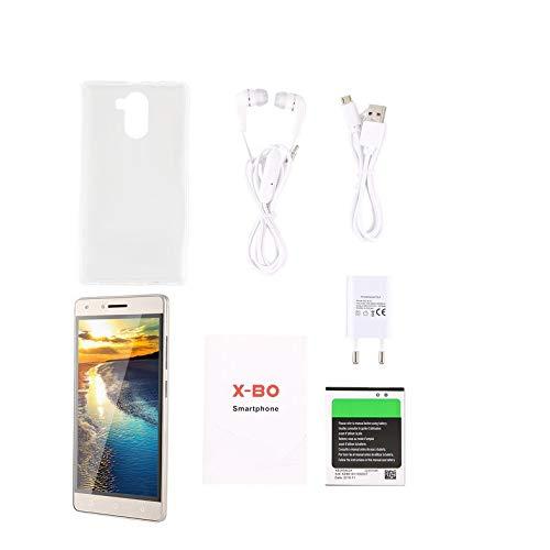 Teléfono Inteligente - O6 Android 6.0 4GB MT6572 Dual Core 5 Pulgadas LCD 960x540 Teléfono móvil Dual Sim Doble Modo de Espera Teléfono Inteligente Cámara Dual - Golden EU