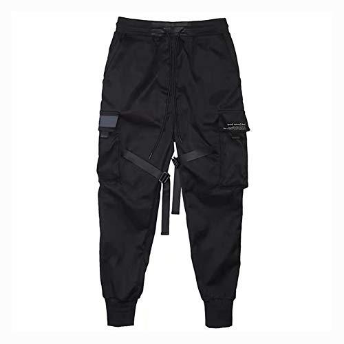 diirm Pantalones Cargo para Hombre Cintas Harem Joggers Pantalones de Hip Hop Harajuku Pantalones...